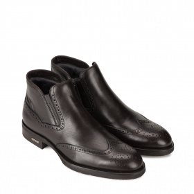 Men's formal ankle boots with shearling