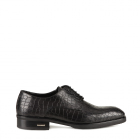 Men's shoes in crocodile stamp