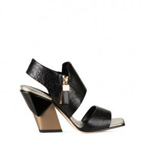 Slanted heel sandals