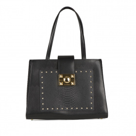 Leather bag in studs