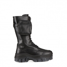 Leather military style boots