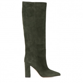 Pointed toe boots in suede