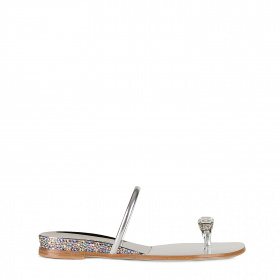 Crystal thong-toe sandals
