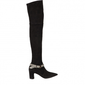 Medium high heel knee-high boots