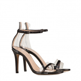 High heel leather sandals