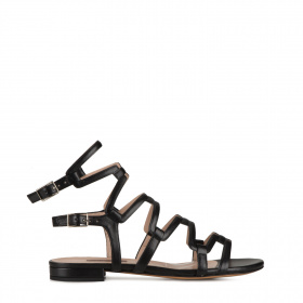 Ladies sandals with two buckles