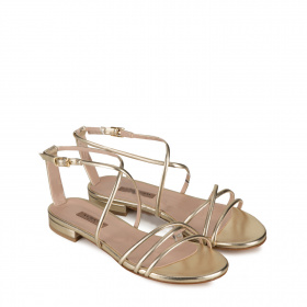 Ladies flat sandals with thin straps