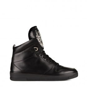 Men's high-top sneakers with shearling