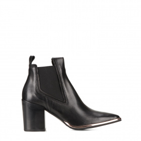 Ladies ankle boots with elastic inserts