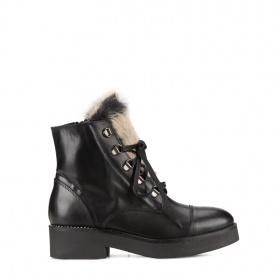 Ladies ponyskin ankle boots
