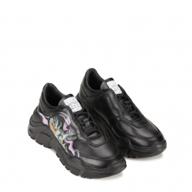 Ladies black sneakers