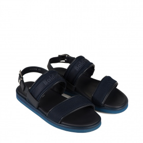 Men's leather sandals with straps