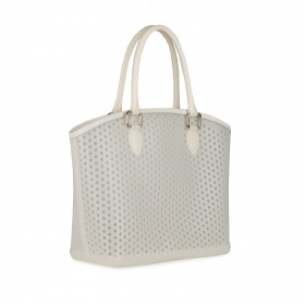 White rubber shopper bag