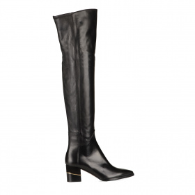 Knee-high boots in leather