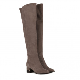 Knee-high boots in suede