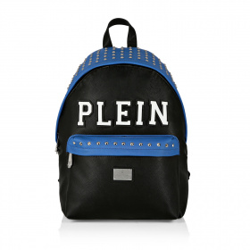Backpack with blue inserts