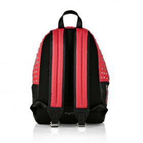 Backpack with red inserts