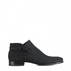 Men's elegant ankle boots with wool