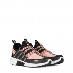 Ladies sneakers with pink