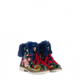 Kid's lapin fur boots