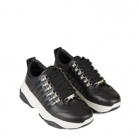 Ladies black maxi sole sneakers
