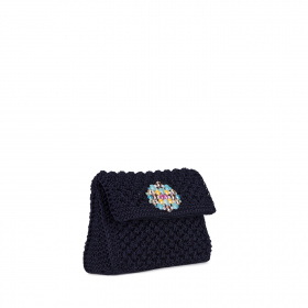 Knitted clutch purse