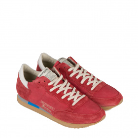 Men's red sneakers