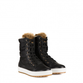 Junior boots with shearling