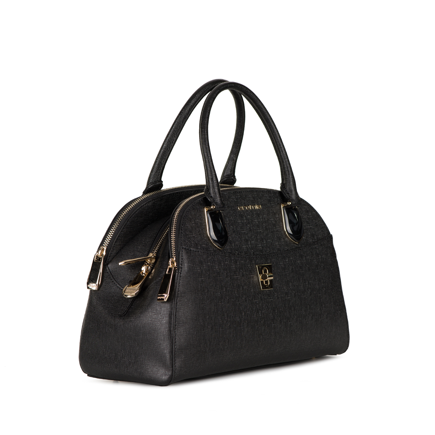Cromia Black stone decorated handbag for 440.00 lv. - PEPINA